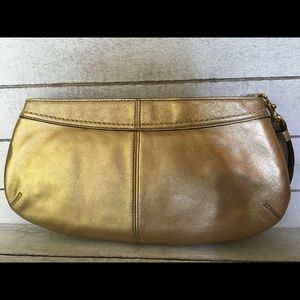 Coach Bags - Coach gold clutch (NWT)